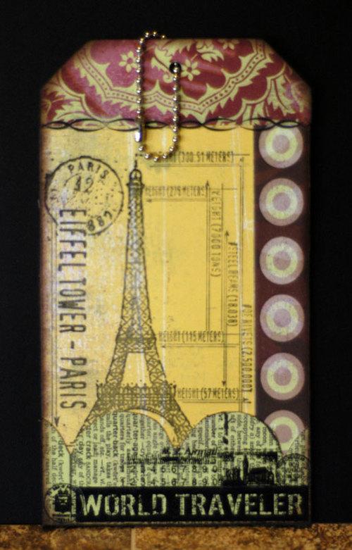 Eiffeltowerluggagetag